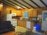renovated kitchen in deluxe cottage 7, pet friendly cottages ontario, otter lake resort cottage for rent is fully equiped as an accommodation ontario