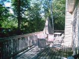 grand muskokan deck overlooking lake and vacation rentals