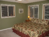 Master Bedroom has king bed with ensuite bath with jacuzzi tub and seperate shower!! chalet rent