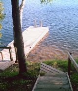 otter lake off dock at premium cottage 5