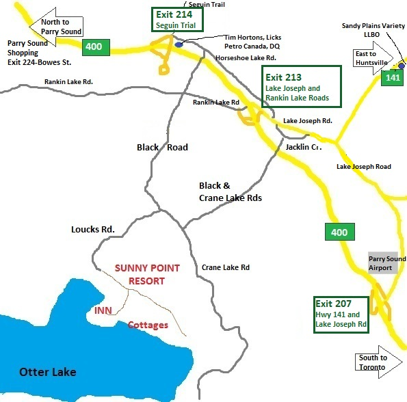 map to sunny point